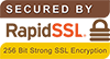 Secured By Rapid SSL - 256 Bit Strong SSL Encryption